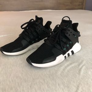 Adidas Originals EQT Tennis Shoes — black/teal
